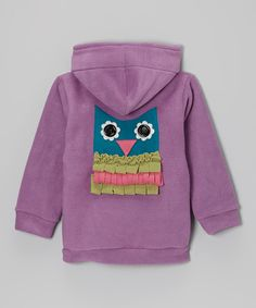 Look at this Orchid Owl Fleece Zip-Up Hoodie - Infant on #zulily today!