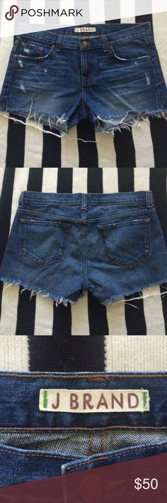 """J Brand Rio Short in Leon Perfect condition. Side slits. Waist: 17.5"""",Rise: 8.5"""", length: 10.5"""". J Brand Shorts Jean Shorts"""