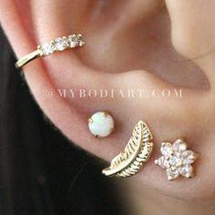 Selena Double Layered Heart Choker Necklace in Gold or Silver – MyBodiArt Rose Gold Earrings, Opal Earrings, Flower Earrings, Statement Earrings, Flower Stud, Ear Piercing Studs, Cute Ear Piercings, Conch Piercings, Body Piercings