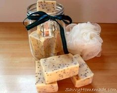 This particular organic soap recipe simply leaves you feeling fresh and will revive your senses. Additionally, it features antiseptic as well as deodorizing benefits, and the mustard seeds help exfoliate and smooth rough edges.
