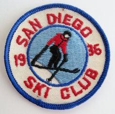 Vintage 1936 San Diego Ski Club Embroidered 3 by SanDiegoVintage, $18.00