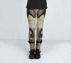 Womens Yoga or fitness leggings horse design by ParadoxYoga