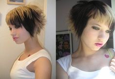 Funky Emo Hairstyles with Medium Length Hair for Teenage Girl