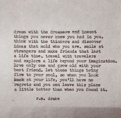 I just fell in love with the words, I should be so lucky to continue to live them.