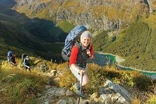 New Zealand Routeburn Track. A Day trek, 32 kms, crossing the Southern Alps and into Mt Aspiring Ntl Park and Fiordland Ntl Park. Peru Treks, Backpacking, Camping, Great Walks, South Island, Parks And Recreation, Family Holiday, Alps, Trekking