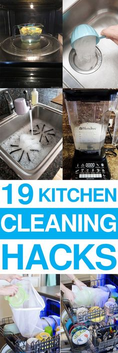The absolute BEST kitchen cleaning hacks and tips for the stove, refrigerator, and other appliances in your kitchen. Wohnung Reinigen 19 Genius Kitchen Cleaning Hacks That Will Make Your Kitchen Sparkling Clean House Cleaning Tips, Diy Cleaning Products, Spring Cleaning Tips, Cleaning Supplies, Cleaning Items, Cleaning Services, Diy Hanging Shelves, Sparkling Clean, Blitz
