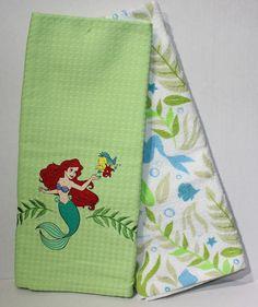 Kitchen Dish Towels Az Cabinets 9 Best Disney Images Ariel Flounder Little Mermaid Towel Set