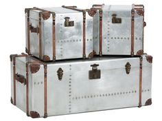 Vintage Silver Trunks - £140.00 - Hicks and Hicks