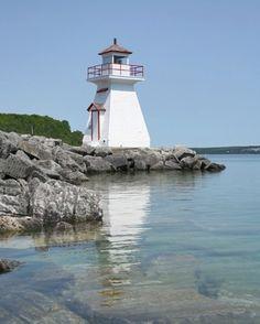 Lion's Head Harbour Lighthouse, Ontario Canada at Lighthousefriends.com
