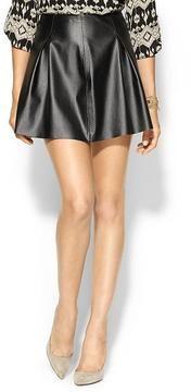 BCBGeneration Pleated Vegan Leather Skirt on shopstyle.com