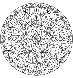 Mandala de Flor Página para colorir