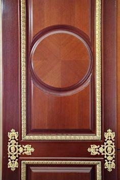 High-end wooden door with decorative bronzes Timber Door, Wooden Doors, Traditional Windows, Joinery, Carpentry, Restoration, Bronze, Interior Doors, Mirror