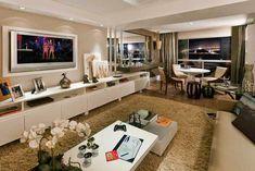 Tons neutros na decora��o! Veja ambientes decorados nas cores bege e branco!