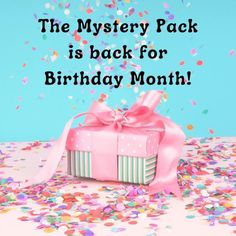 Mystery packs are back from tomorrow. WooHoo!