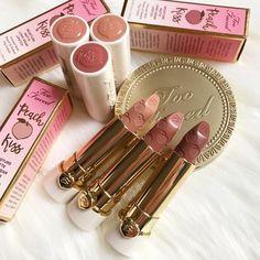 Too faced peach kiss matte long wear lipstick #makeup #beauty #ad