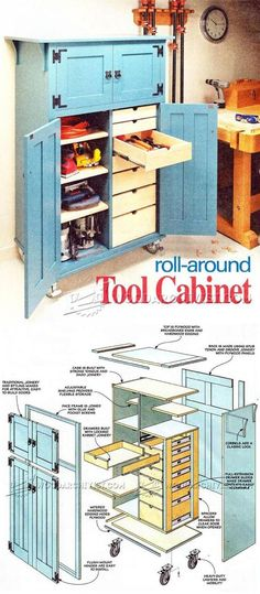 Roll-Around Tool Cabinet Plans - Workshop Solutions Plans, Tips and Tricks   WoodArchivist.com