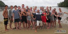 Richard, adventurers' and Go PRO interns take a group shot to commemorate the completion of the PADI Open Water Diver course!