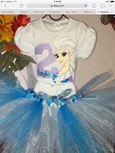 Elsa shirt on Etsy, $25.00