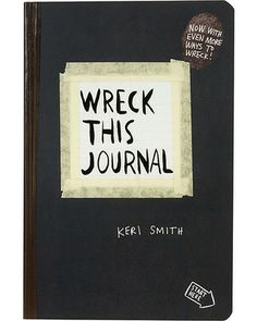 Wreck This Journal Revised ( Jayden might really like this  & a DIY version should be easy. I could even complete a gift set with a bag to wreck & all the wrecking supplies needed)