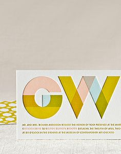 Melange Letterpress Wedding Invitation | Elum