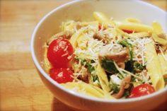 Meatless Mondays: Arugula, Brie and Mushroom Pasta