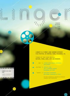 Poster and identity for outdoor film festival Linger by Tracy Hung.