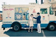 Vintage Mister Softee ice cream truck
