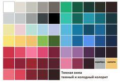 Palette Dark Winter from Color Harmony #colortype #darkwinter