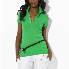 ... Mesh Women Featured Notch Short Sleeved Polo Blue Outlet Online