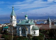 The Russian Orthodox church (1916), Motomachi district, Hakodate, Hokkaido, Japan.