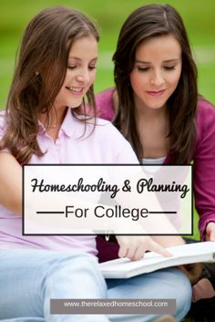 Here are some great ideas on how to plan for college when you are homeschooling!