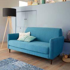 Canapé 3 places en tissu anthracite Brooke Maisons du Monde 499 ...