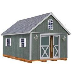 Belmont 12 ft. x 24 ft. Wood Storage Shed Kit with Floor including 4x4 Runners #shedkits #DIYShedFloor #woodshedkits