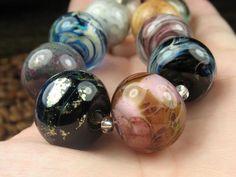 Into the Fire Lampwork Art Beads ~Sofisticat~ Artist handmade glass beads OOAK