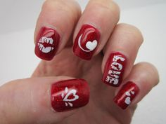 Nail Art Designs drift of has immovable the vogue among most women's and immature girls. nail art designs appear in loads of variations and. Nail Designs 2017, Heart Nail Designs, Valentine's Day Nail Designs, Creative Nail Designs, Creative Nails, Nails Design, Design Design, Design Ideas, Love Nails