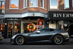 """Ferrari 599 GTO. I love """"red cars"""" that aren't red. Argento Nurburgring."""