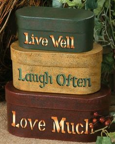 Live Laugh Love Shaker Boxes