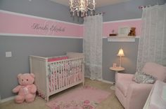 Here's the name on the wall and the white lace curtains.. love!