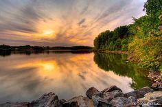 Sunset on Chambers Lake, Hibernia Park, PA  © Ed  Heaton