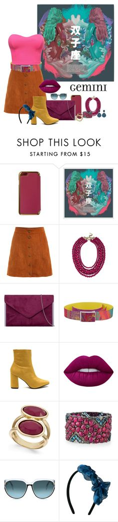 """Girly Gemini"" by nikitamarceau on Polyvore featuring Ted Baker, BaubleBar, Lime Crime, INC International Concepts, Bavna, Latelita, gemini and zodiacfashion"