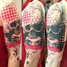 Tattoo Artist - Jacob Pedersen - skull tattoo | www.worldtattoogallery.com