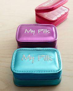 """My Pills"" Pill Case at Neiman Marcus."