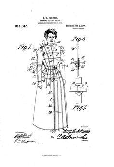 1909 Patent US911045 - GARMENT-FITTING DEVICE - Google Patents
