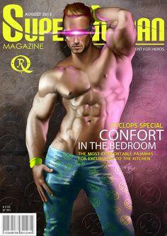 Cyclops Superhuman Magazine by elGuaricho on DeviantArt Most Comfortable Pajamas, Gay Comics, Cartoon Man, Cyclops, Comics Universe, Sexy Cartoons, Cover Model, Gay Art, Marvel Art