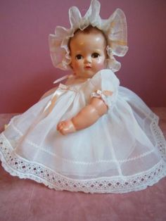 "VINTAGE IDEAL COMPOSITION & HP PLASSIE 16"" DOLL ALL ORIGINAL VERY SWEET"