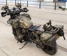 Whaddya know, a pretty good looking survival bike. Gs 1200 Adventure, Adventure Gear, Adventure Tours, Bmw Motorcycles, Custom Motorcycles, Custom Bikes, Motorcycle Outfit, Motorcycle Bike, Motorcycle Equipment