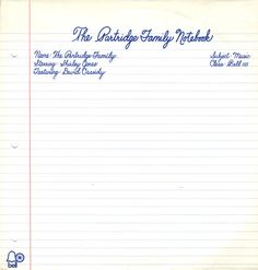 For Sale - The Partridge Family The Partridge Family Notebook USA  vinyl LP album (LP record) - See this and 250,000 other rare & vintage vinyl records, singles, LPs & CDs at http://eil.com