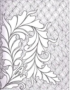 51 Ideas For Free Motion Quilting Designs Leaves Sketch Books Longarm Quilting, Free Motion Quilting, Hand Quilting, Leaves Sketch, Painting Corner, Machine Quilting Designs, Quilting Ideas, Whole Cloth Quilts, Hand Embroidery Designs