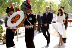 The Duchess of Cambridge contended with the weather on day two of her trip to India.