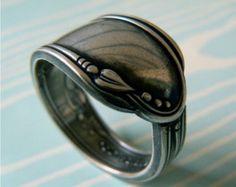 Antiguo anillo de cuchara de plata - Meadowbrook 1936